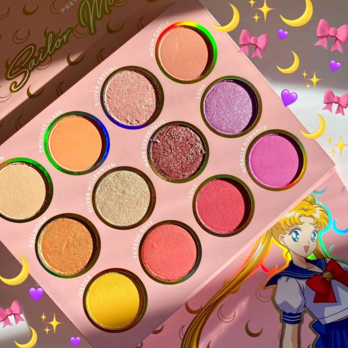 Maquillaje ColourPop de Sailor Moon; paleta de sombras