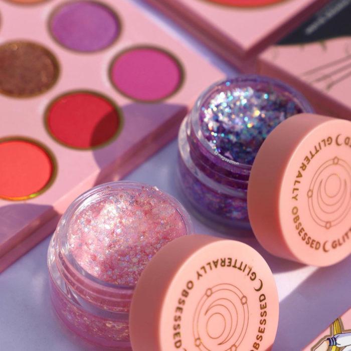 Maquillaje ColourPop de Sailor Moon; sombra de brillos