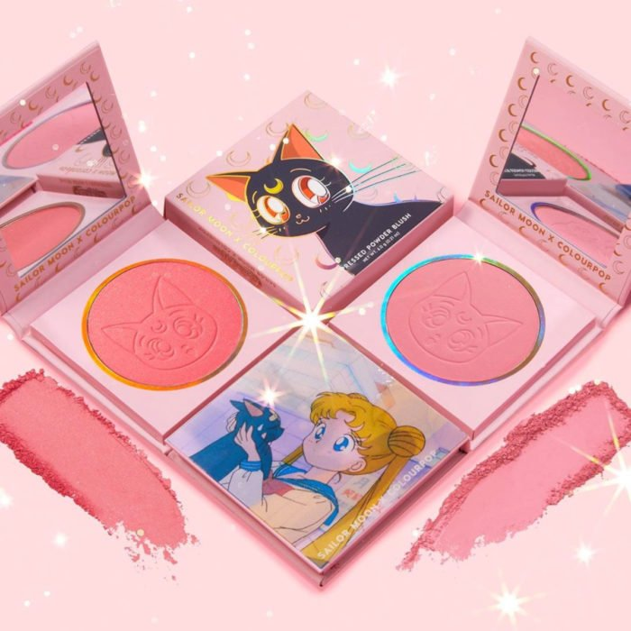 Maquillaje ColourPop de Sailor Moon; blush, rubor rosa