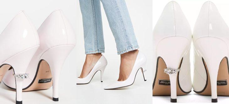 Zapatos de compromiso Marc Jacobs en color blanco con tacón alto y anillo de compromiso