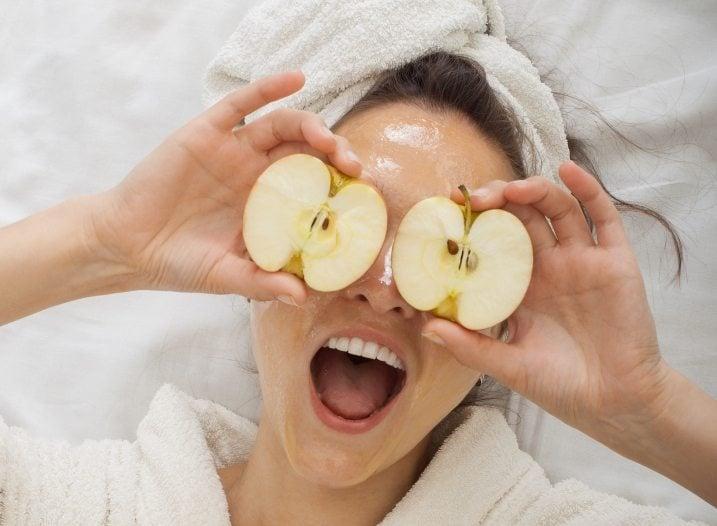 Mascarilla de puré de manzana