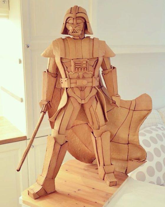 Figura de Death Vader hecha con pan de gengibre
