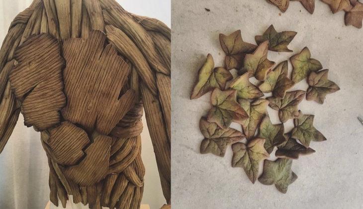 Detalles de un groot creado con jengibre y azúcar