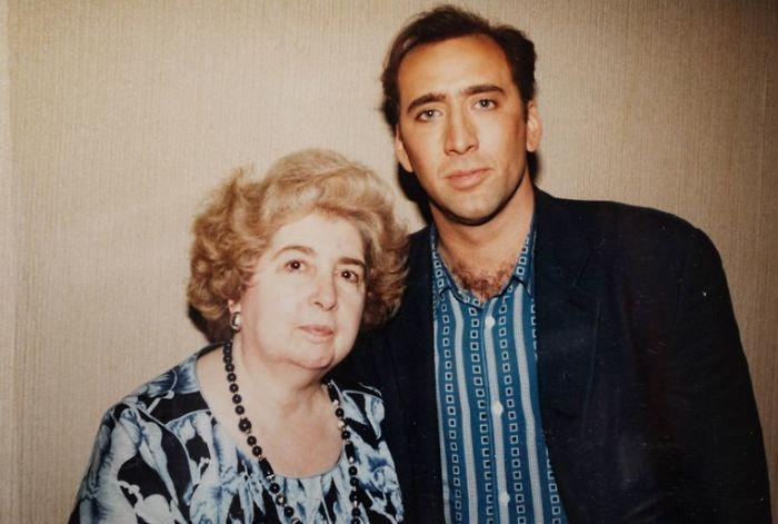 Maria Snoeys-Lagler y Nicolas Cage