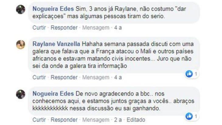 Comentarios en facebook de una pareja que inició una pelea