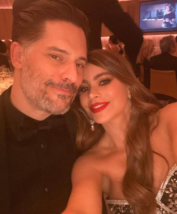Sofia vergara y Joe Mangalieno en la cena after party de los Oscar 2020