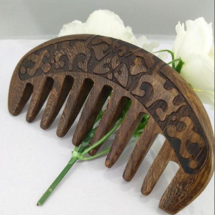 Peine de dientes anchos para cabello rizado u ondulado