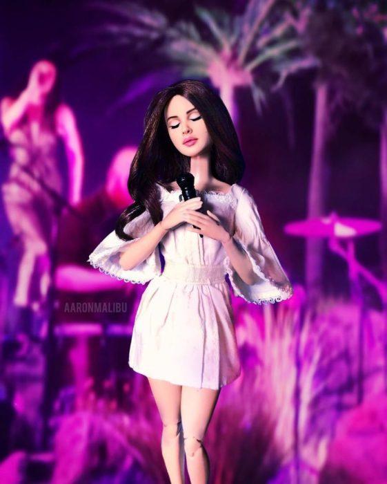 Muñecos Barbie utilizados para recrear a Lana Del Rey
