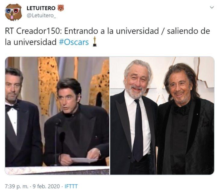 Captura de Twitter de Robert de Niro