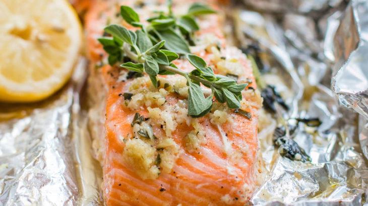 Platillo de salmón con especias
