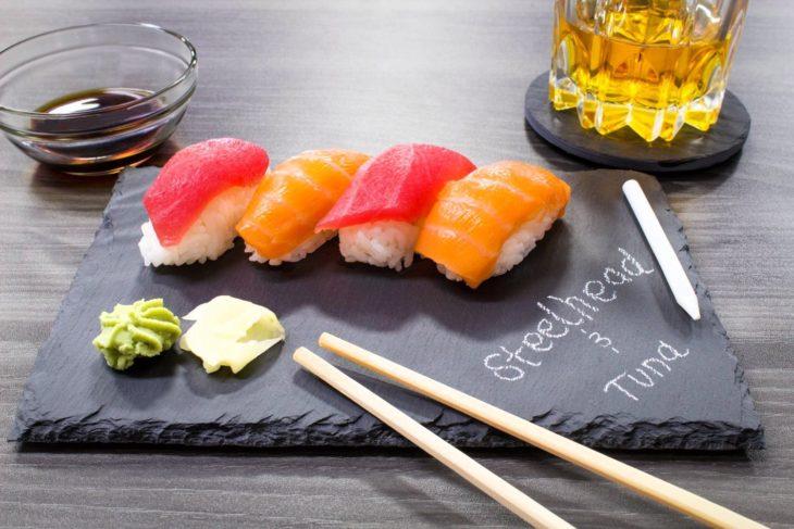 Tablitas para sushi o quesos