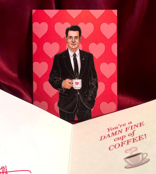 El ilustrador PJ McQuade crea tarjetas de San Valentín de famosos y películas para gemte geek; Dale Cooper, Twin Peaks