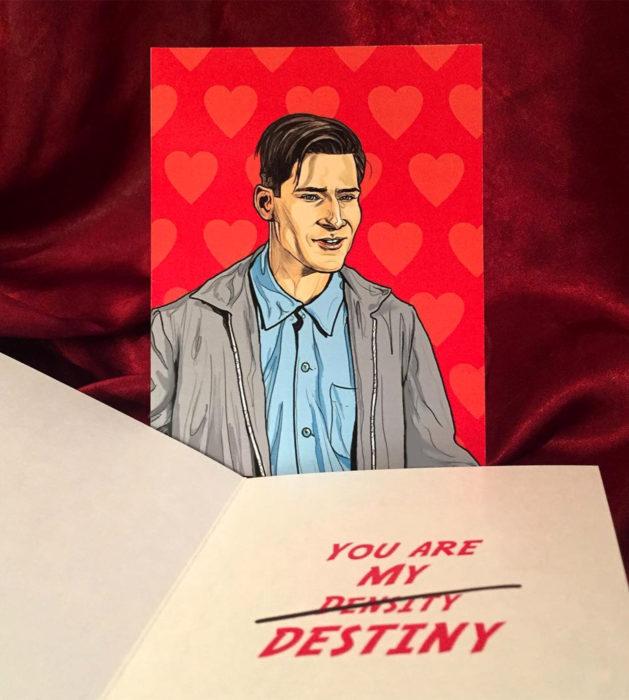 El ilustrador PJ McQuade crea tarjetas de San Valentín de famosos y películas para gemte geek; George McFly, Volver al futuro