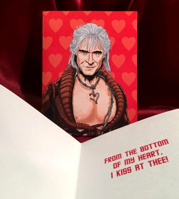 El ilustrador PJ McQuade crea tarjetas de San Valentín de famosos y películas para gemte geek; Khan, Star Trek