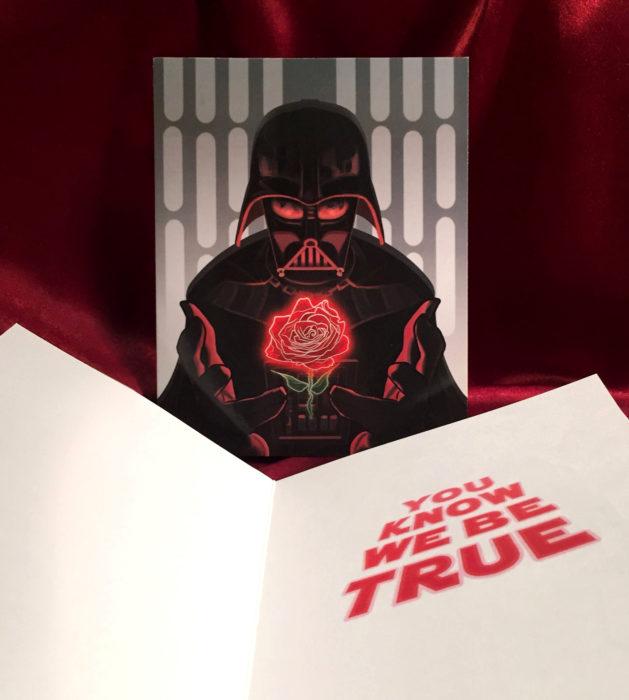 El ilustrador PJ McQuade crea tarjetas de San Valentín de famosos y películas para gemte geek; Darth Vader, Star Wars