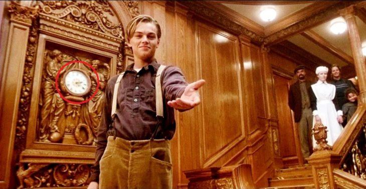 Escena de Titanic cuando Rose regresa al Titanic a encontrarse con Jack