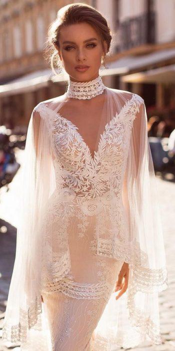 Vestido de novia de tendencia y sugerido por los diseñadores