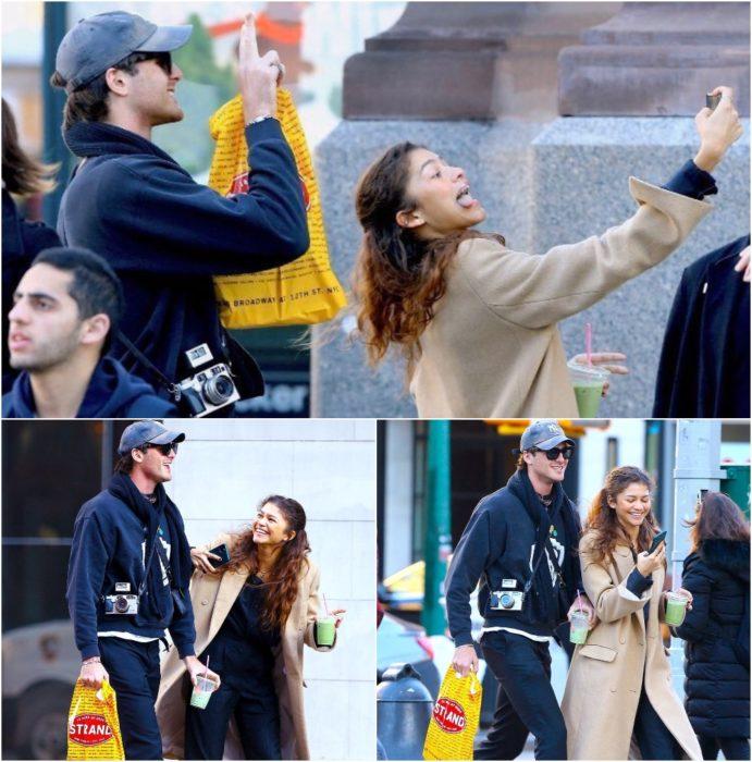 Zendaya y Jacob Elordi de vacaciones en Nueva York tomando selfies