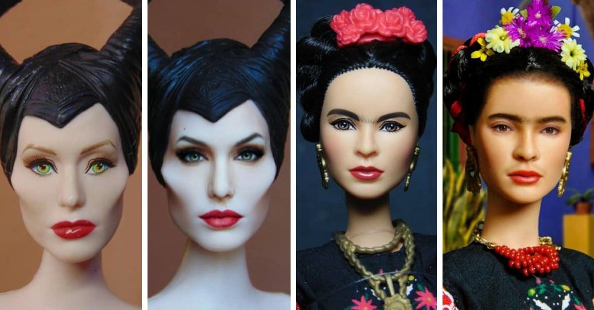 Artista repinta Barbies para que se parezcan a los artistas reales