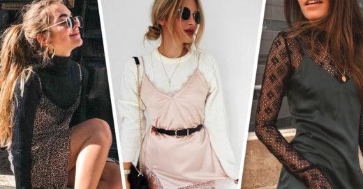 21 Formas de cambiar el look de tu vestido de tirantes con blusas básicas