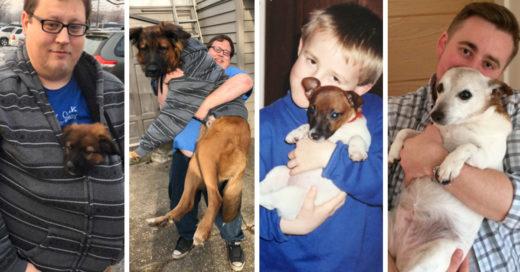 23 Conmovedoras fotografías del antes y después de mascotas junto a sus dueños