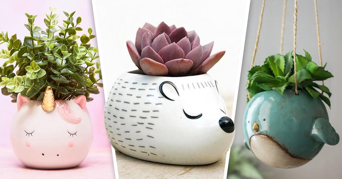 20 Lindas macetas de animales que darán un toque tierno a tu casa