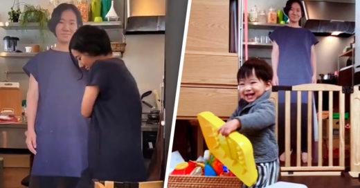 Mamá logra que su bebé deje de llorar con una réplica de tamaño real de sí misma