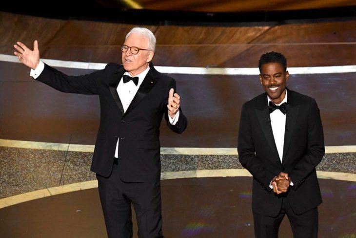 Steve Martin y Chris Rock presentando la gala de los Óscar 2020
