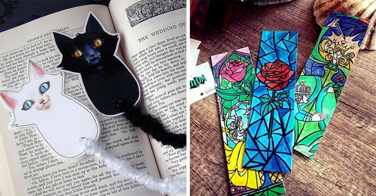 15 Fabulosos separadores de libros que sí o sí querrás tener
