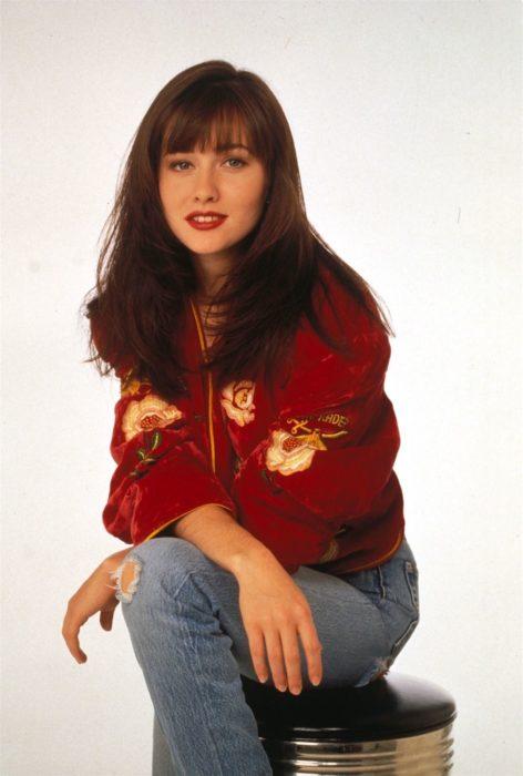 Shannen Doherty en su personaje de la serie Beverly Hills 90210