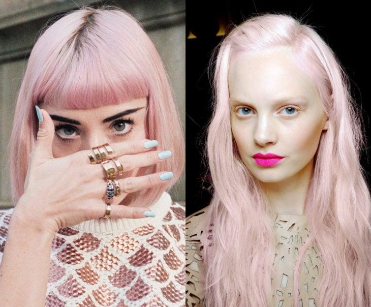 Tonos de rosa para pintarte el cabello; algodón de azúcar