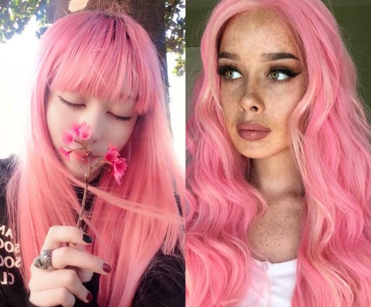 Tonos de rosa para pintarte el cabello; flamenco