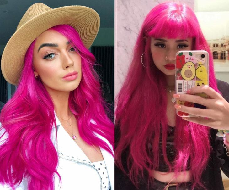 Tonos de rosa para pintarte el cabello; fucsia