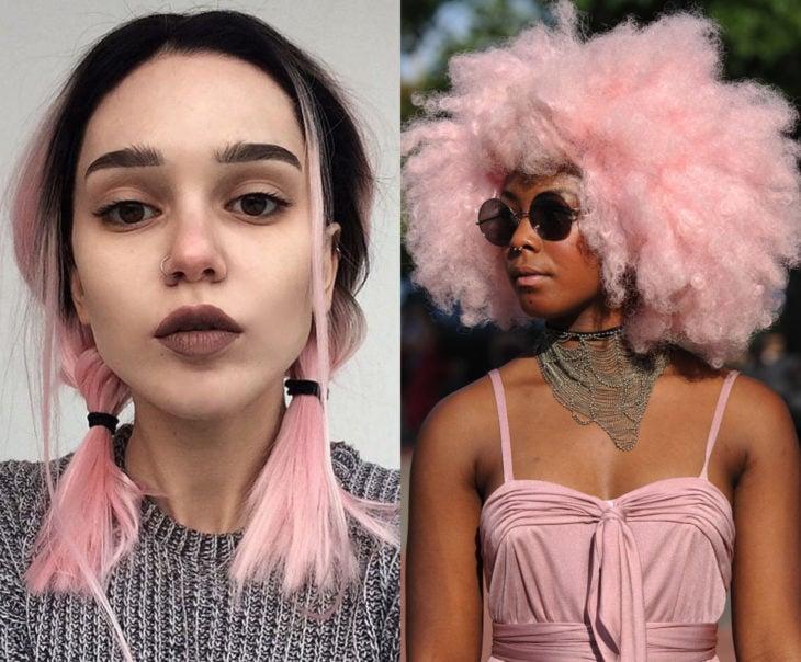 Tonos de rosa para pintarte el cabello; limonada