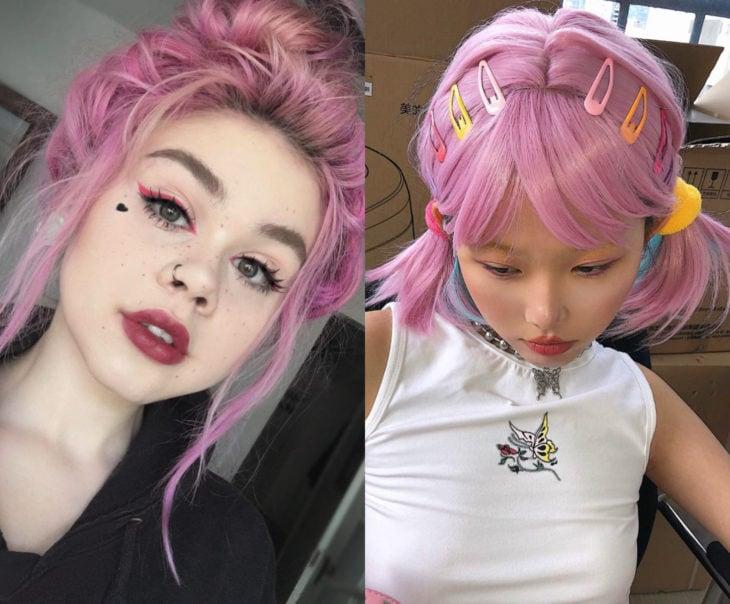 Tonos de rosa para pintarte el cabello; maiot