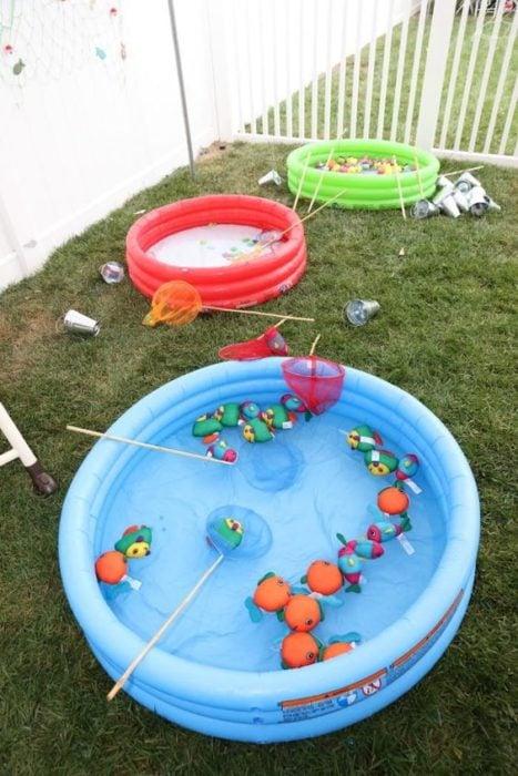 Juego de pesca para niño el alberquita inflable