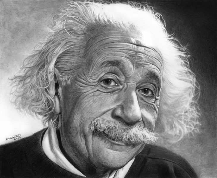 Dibujo creado con colores de Albert Einstein