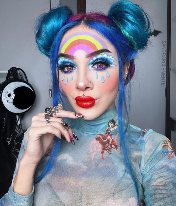 Recreación de maquillaje de Arcoíris