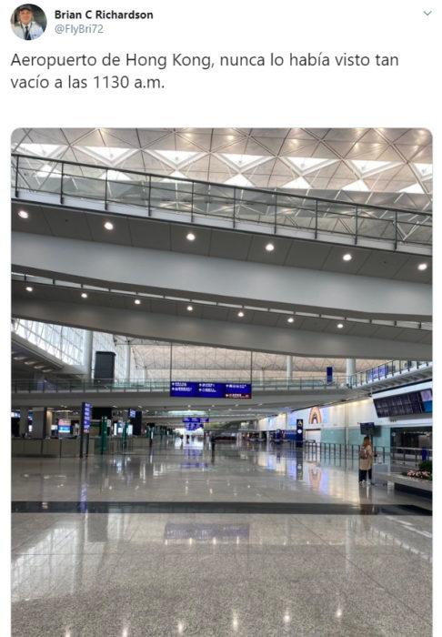 Aeropuerto de Hong Kong desierto