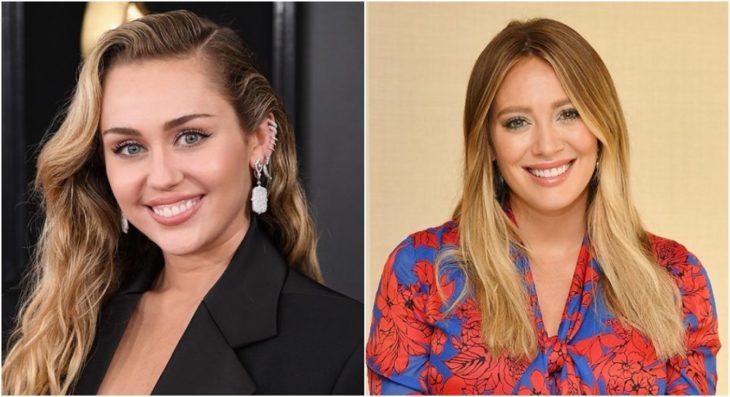 Miley Cyrus y Hilary Duff