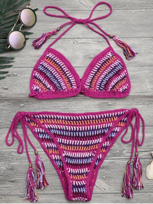 Bikini de dos piezas tejido a crochet