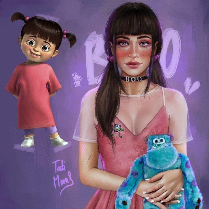 Ilustración de Boo como si fuera adolescente