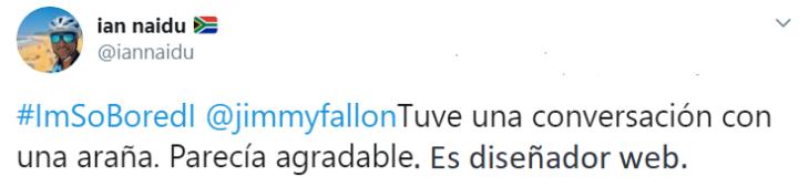 Captura de Twitter con respuesta al hashtag de Jimmy Fallon
