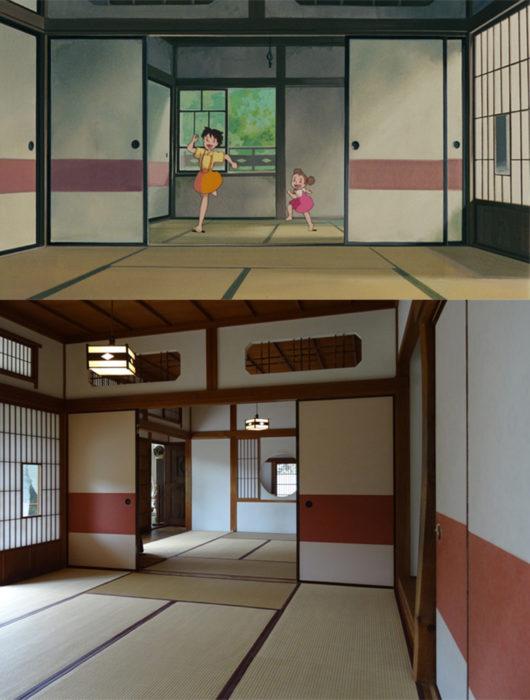 Comparación de la casa real de Mi vecino Totoro vs la película