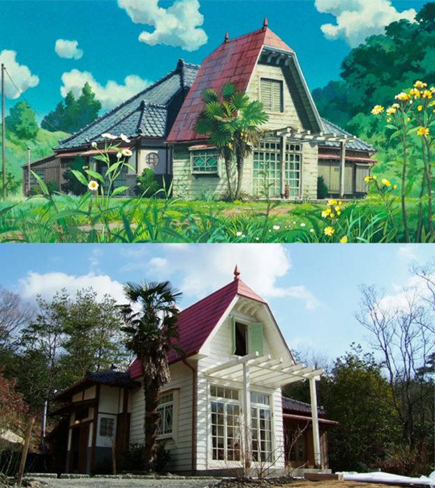Comparación de la casa real de Mi vecino totoro vs la de la película