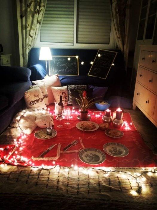 Cosas para cena romántica en casa