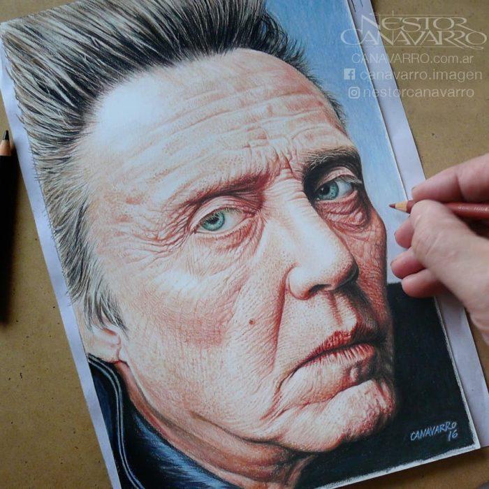 Dibujo creado con colores de Christopher Walken