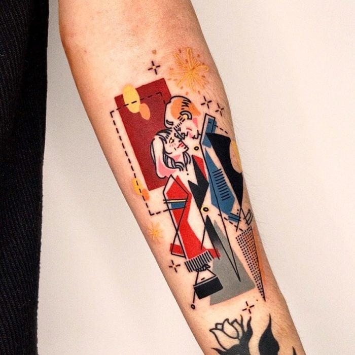 Tatuaje de la artista Moon Blue Ink de los protagonistas de la película Cuestión de tiempo