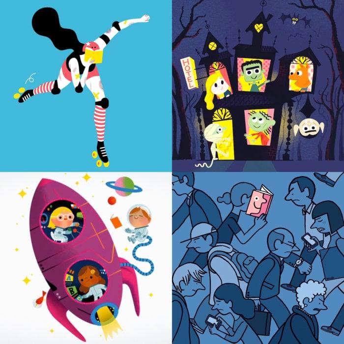 Cursos de Domestika gratis y en línea para la cuarentena; ilustración