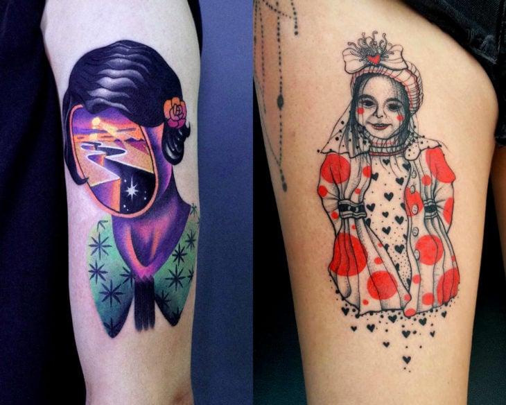 Estilos de tatuajes femeninos; tatuaje surrealista